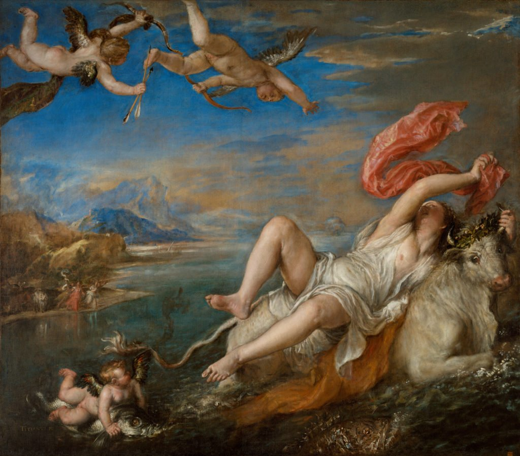 """Rape of Europa"" painting"