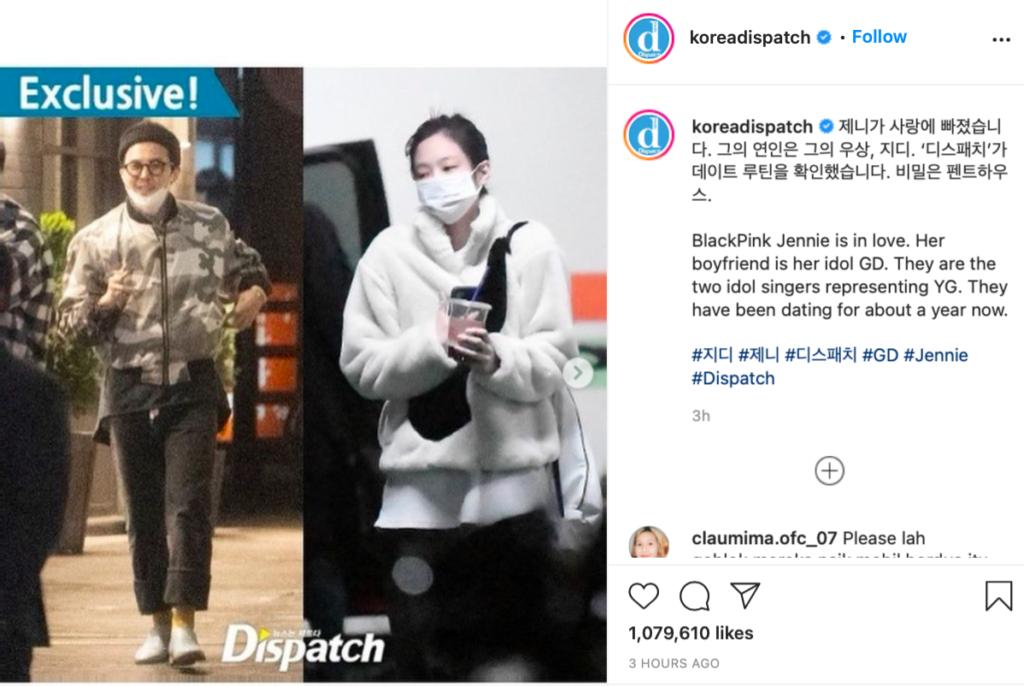 BLACKPINK Jennie BIGBANG G-Dragon